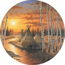 River of Time Native Tepee Sunset Spare Tire Cover Jeep Rv Camper etc(all sizes)