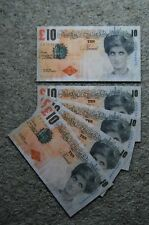 Cinq Banksy di Faced tenners £ 10 Ten Pound Princesse Diana Replica notes