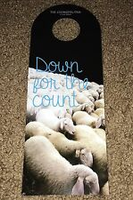 "THE COSMOPOLITAN DO NOT DISTURB SIGN LAS VEGAS HOTEL ""DOWN FOR THE COUNT"" SHEEP"