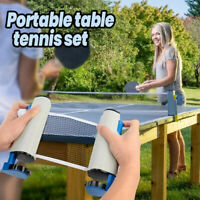Indoor Games Retractable Table Tennis Ping-Pong Net Kit Replacement Set New.