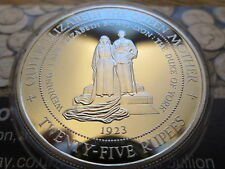 1994 1oz Seychelles Silver Proof 25 Rupees Crown Coin The Queen Mother