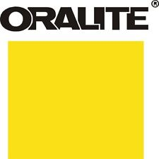 "12"" YELLOW REFLECTIVE Sign Vinyl ORALITE 5300 ADHESIVE Outdoor"