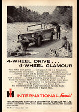 "1963 INTERNATIONAL SCOUT 4WD AD A3 CANVAS PRINT POSTER FRAMED 16.5""x11.7"""
