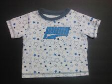 Puma T-Shirt Size 12 months Baby Toddler Short Sleeve Girl's Stars White Blue
