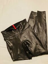 Spanx black faux leather leggings small