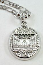 "CELEBRITY Small Silver Plated Last Supper Pendant 24""Chain 35mm Charm Set#1"
