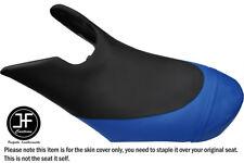 BLACK R BLUE CUSTOM FOR SEADOO 02-06 GTX DI 4-TEC FRONT VINYL SEAT COVER + STRAP