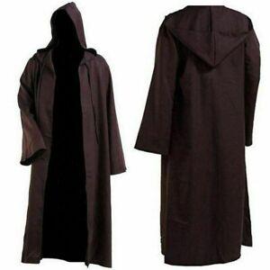 Jedi Knight Anakin Cloak Cosplay Costume Adult Robe Costume Hooded Cape Hooded