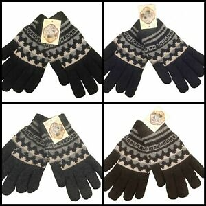 LUXURIOUS THICK VERY WARM WOOL GLOVES men women Traditional English knit design