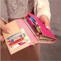Women Lady Leather Wallet CellPhone Card Holder Coin Purse Handbag US Warehouse