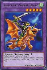 YuGiOh Alligator's Sword Dragon - TU08-EN008 - Rare - Unlimited Edition Near Min