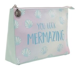 Ombre Mermaid Wash Bag Travel Toiletries Overnight Storage Case Make Up Cosmetic
