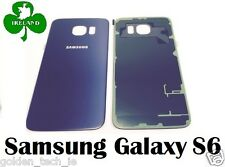 For Samsung Galaxy S6 G920 Back/Battery Cover Glass Housing Replacement Blue