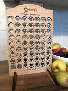 WEIGHT LOSS CHART stone TRACKER - SLIMMING WORLD WEIGHT WATCHERS £1 pound coin