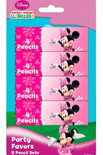 Minnie Mouse Pink Party Loot Bag Fillers Coloring Pencil Sets (Pack of 8 Sets)
