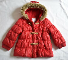 GIRL'S 2-3 YRS 98 Cm RED GIRL'S WINTER PADDED COAT GOOD USED CONDITION