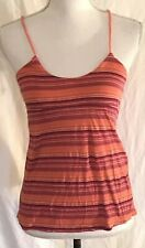 Aeropostale XS Strappy Tank Top Orange Stripes Sleeveless Shirt