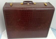 vintage samsonite Shwayder bros.  faux alligator hardshell suitcase with hangers