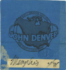 John Denver 1980 Here There & Everywhere Tour Backstage Pass
