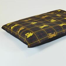XL Size Dog Bed - Washable cover Clearance - Checked Dog (Brown X-Large)