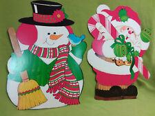 2 Vintage Christmas die cut decorations