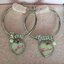JUICY COUTURE AWESOME HOOP HEART Earrings, VERY RARE!! Exquisite. NEW!!