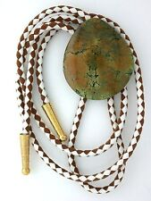 GREEN BROWN TURQUOISE CAB CABOCHON GEM STONE GEMSTONE BOLO BOLA TIE EBS1117