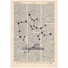 Sagittarius Dictionary Word Art Print Quirky, Alternative, Cosmic, Star Sign