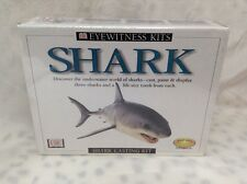 Shark Model Cast Paint Kit 3 Sharks Species Marine Animal Ocean Sea Life Book