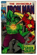 IRON MAN No 9, Iron Man vs Green Hulk like android, Marvel, VF+