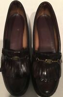 GH Bass & Co Womens 7.5AA  Burgandy Leather Loafers Weejuns Slip Ons