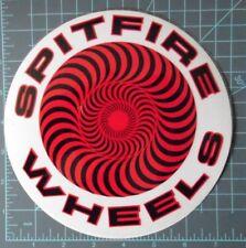 Spitfire - skateboard wheels - round - large logo sticker Black & Red, NOS