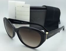 New EMPORIO ARMANI Sunglasses EA 4037 5017/13 Black & Gold w/Brown gradient lens
