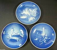 B&G Bing & Grondahl Set of 3 Mothers Day Plates 1971 1973 1978 Denmark