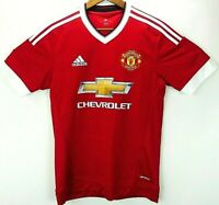 Authentic Adidas 2015 Manchester United Chevrolet Home Jersey Men's Small