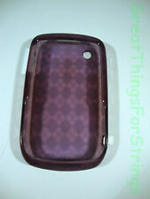 Purple Clear Silicone Cell Phone Case BlackBerry Curve Phone Assecories Camera