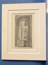 NORWICH CATHEDRAL APSE NORFOLK VINTAGE MOUNTED PRINT