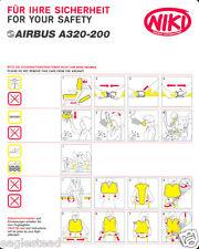 Safety Card - Niki - A320 200 (S1689)