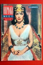 GINA LOLLOBRIGIDA ON COVER 1958 RARE EXYU MAGAZINE