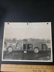 1930s Sealand Trucks Fire  Department Photograph Farmingdale NY