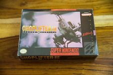 Choplifter III (Super Nintendo Entertainment System, 1994) Box, Tray, Game