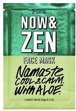 Victoria's Secret Pink Now Zen Face Mask 3 Sheet 20g Namaste Cool Calm Aloe Lot