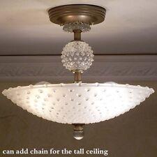 987 Vintage Hobnail Ceiling Lamp Light Fixture chandelier art deco