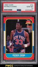 1986 Fleer Basketball Patrick Ewing ROOKIE RC #32 PSA 10 GEM MINT