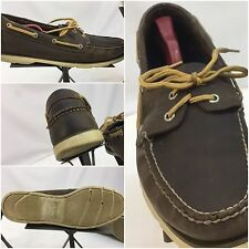 Sperry Top Sider Moccasins Shoes Sz 13 Men Brown Leather EUC YGI L6-55