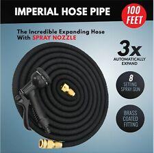 Hose Pipe 100 & 200 Feet Brass Connectors Blue inner Latex with Spray GUN UK Sel