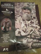 """NEW Duck Dynasty """"UNCLE SI"""" Adult Costume Beard Wig Vest Glasses"""