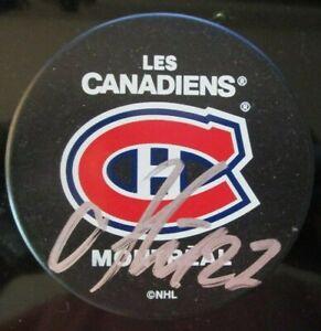 ALEX GALCHENYUK SIGNED MONTREAL CANADIENS HOCKEY PUCK w/ COA