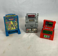 Vintage Gamebots Lot Cash Register Pinball Slot Machine Transforming Taiwan