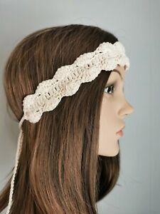 Boho Headband Handmade Crochet Headband, Hairband, Retro Style, Hippie, Beach